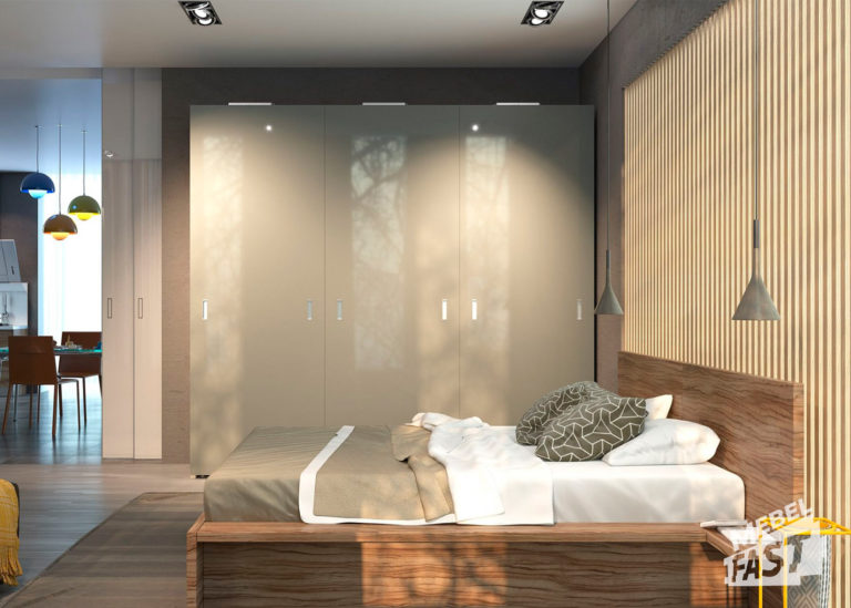 Спальня в бежевых тонах 01