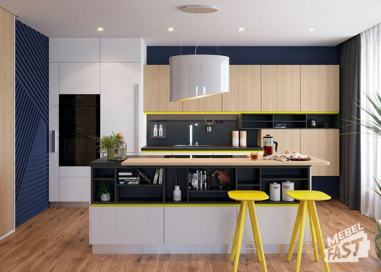 Кухня-студия с островом 24