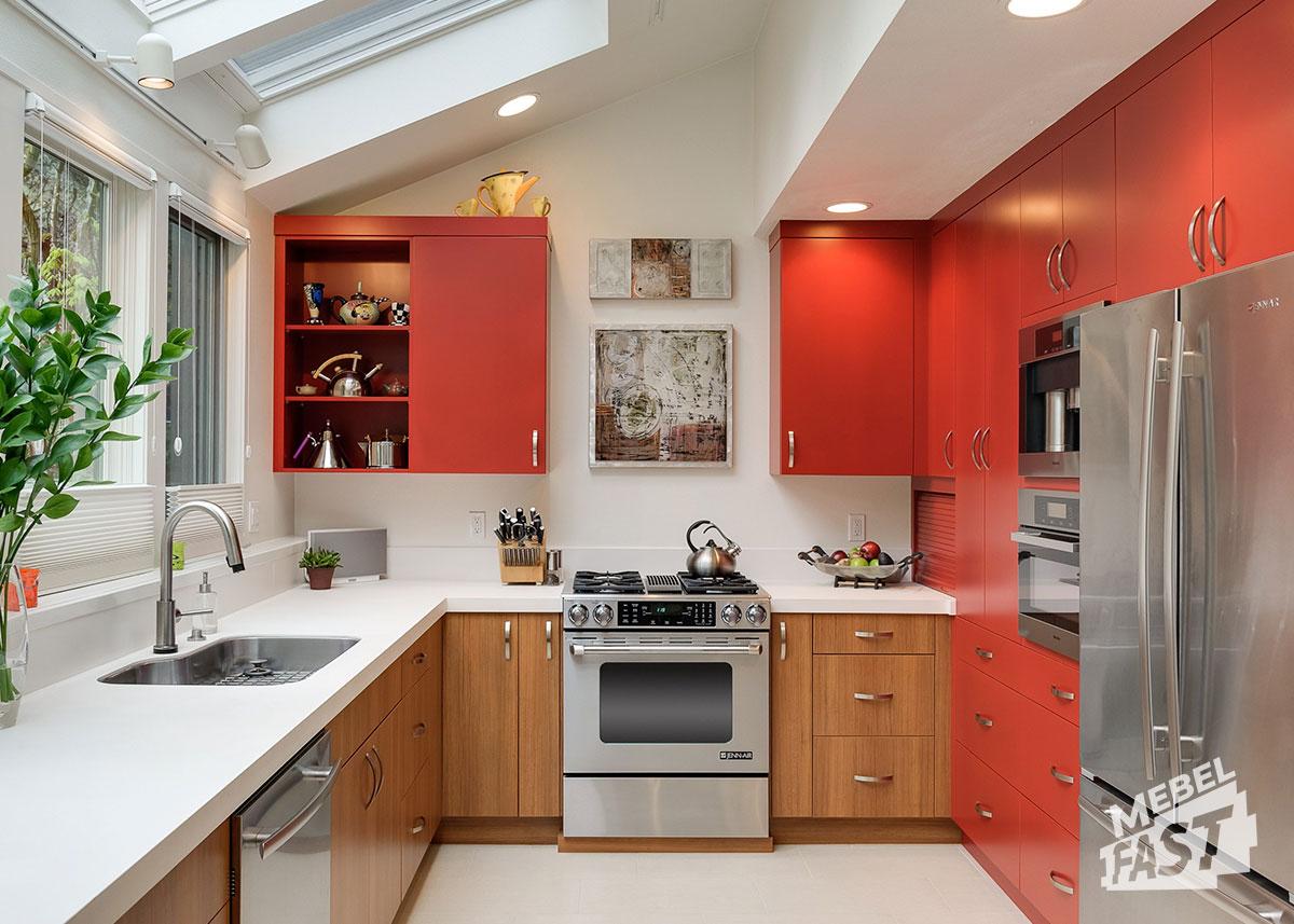 Плюсы встроенной кухни